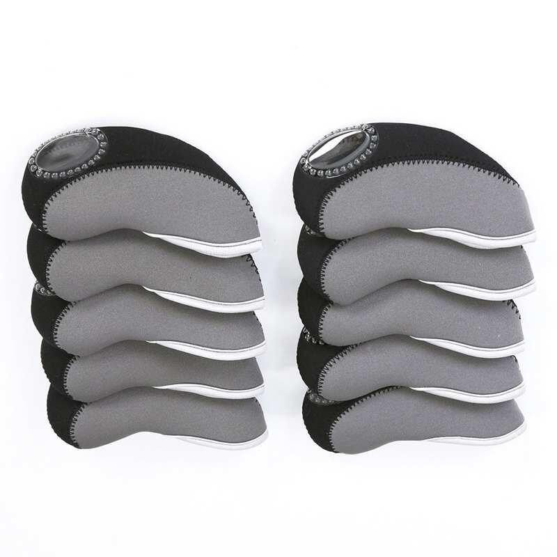 Set of 10 Golf Club Head Cover Wedge Protective Headcovers Golf Accessories - intl