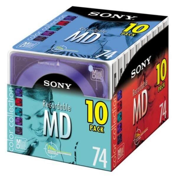Sony 10MDW74E Koleksi Warna Mini Cakram 74 Menit (10-Bungkus) (Dihentikan Oleh Produsen)-Internasional
