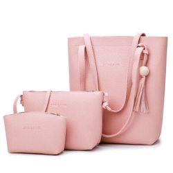 3 Buah Set Tas Kulit PU untuk Wanita Tas Bahu Wanita Tas Tangan Mewah Tas Wanita Desainer Bolsos Mujer