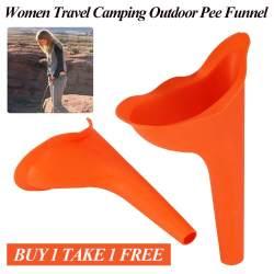 Aksesori Pispot Kencing Silikon Wanita Alat Darurat Perjalanan Berkemah Toilet Luar Ruangan Corong Urin (Beli 1 Gratis 1)