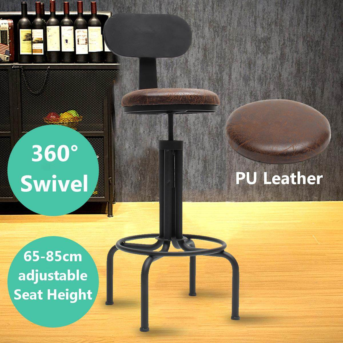 100 Cm Adjustable Retro Logam Kerajinan Bar Stool Furniture Swivel Cafe Counter Kursi-Intl