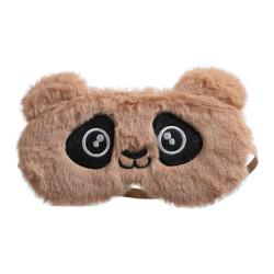 Masker Mata Hewan Berbulu 3D Mewah Penutup Mata Kartun Alat Perjalanan Penutup Mata Penutup Mata