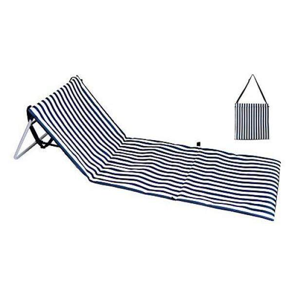 Beach Chair Beach Lounger Outdoor Portable Mat Reclining Lounge Chair Tote Extra Thick Adjustable Backrest By ABNII - intl