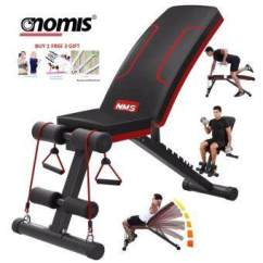 Gym Bench Press Chair Captain Chairs For Dining Room Table Features Sellincost Foldable Sit Up Dumbbell With Free 3 Gift Nms Nomis Upgraded Version Fitness Weight Lifting 6