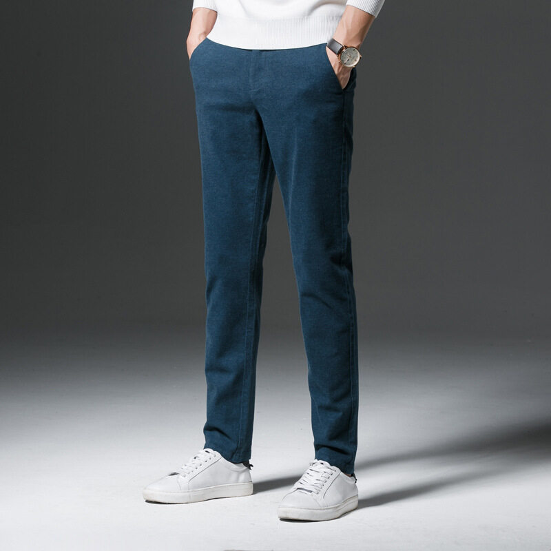 Men Suit Pants Work Office Formal Pants Men Anti-wrinkle Business Trousers Men's Formal Chino 0203 - intl