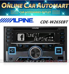 details about alpine cde w265ebt double din bluetooth cd usb aux car stereo receiver [ 1000 x 1000 Pixel ]