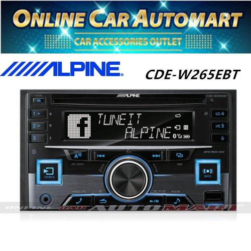 small resolution of details about alpine cde w265ebt double din bluetooth cd usb aux car stereo receiver