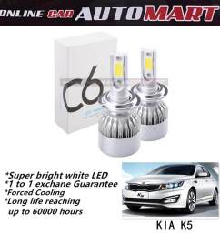 kia optima k5 c6 led light car headlight auto head light lamp 6500k  [ 1000 x 1000 Pixel ]