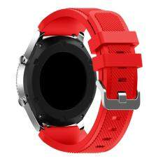 Replacement Silicone Band Bracelet Strap for Samsung Gear S3 Classic Light Red