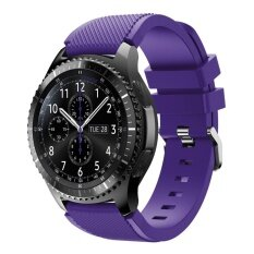 Luxury Replacement Silicone Band Bracelet Strap for Samsung Gear S3 Frontier Purple
