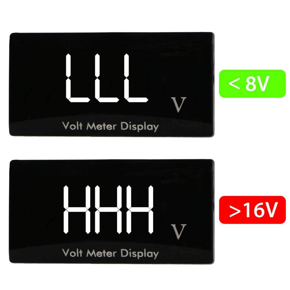 medium resolution of 12v d1 spec digital led display voltmeter car motorcycle voltage volt gauge panel meter red