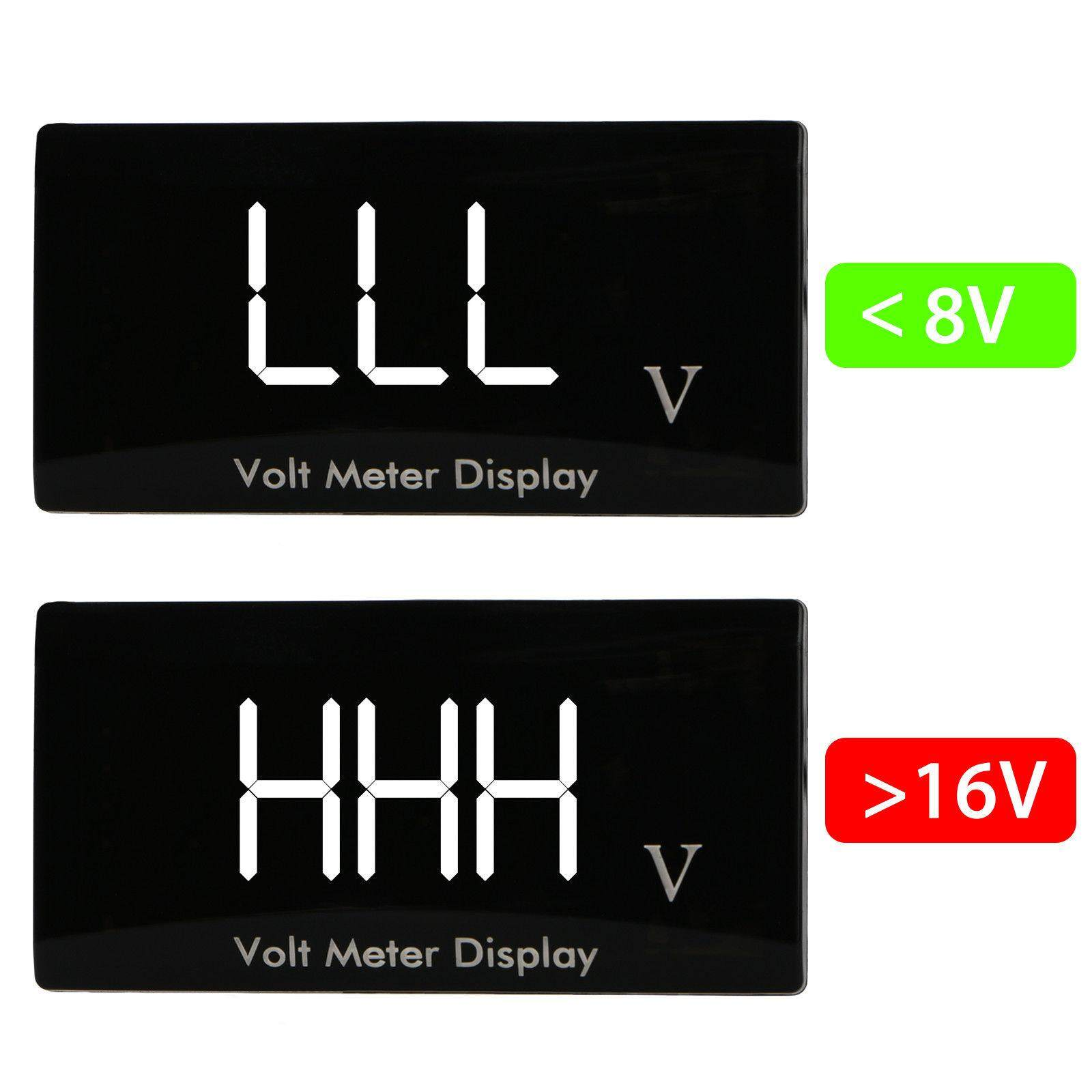 hight resolution of 12v d1 spec digital led display voltmeter car motorcycle voltage volt gauge panel meter red