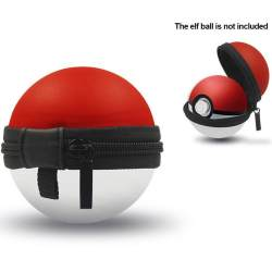 Kotak Penyimpanan Tas Portabel EVA Wadah Pelindung Keras Bulat Organizer EVA untuk Switch Pokemon Pokeball