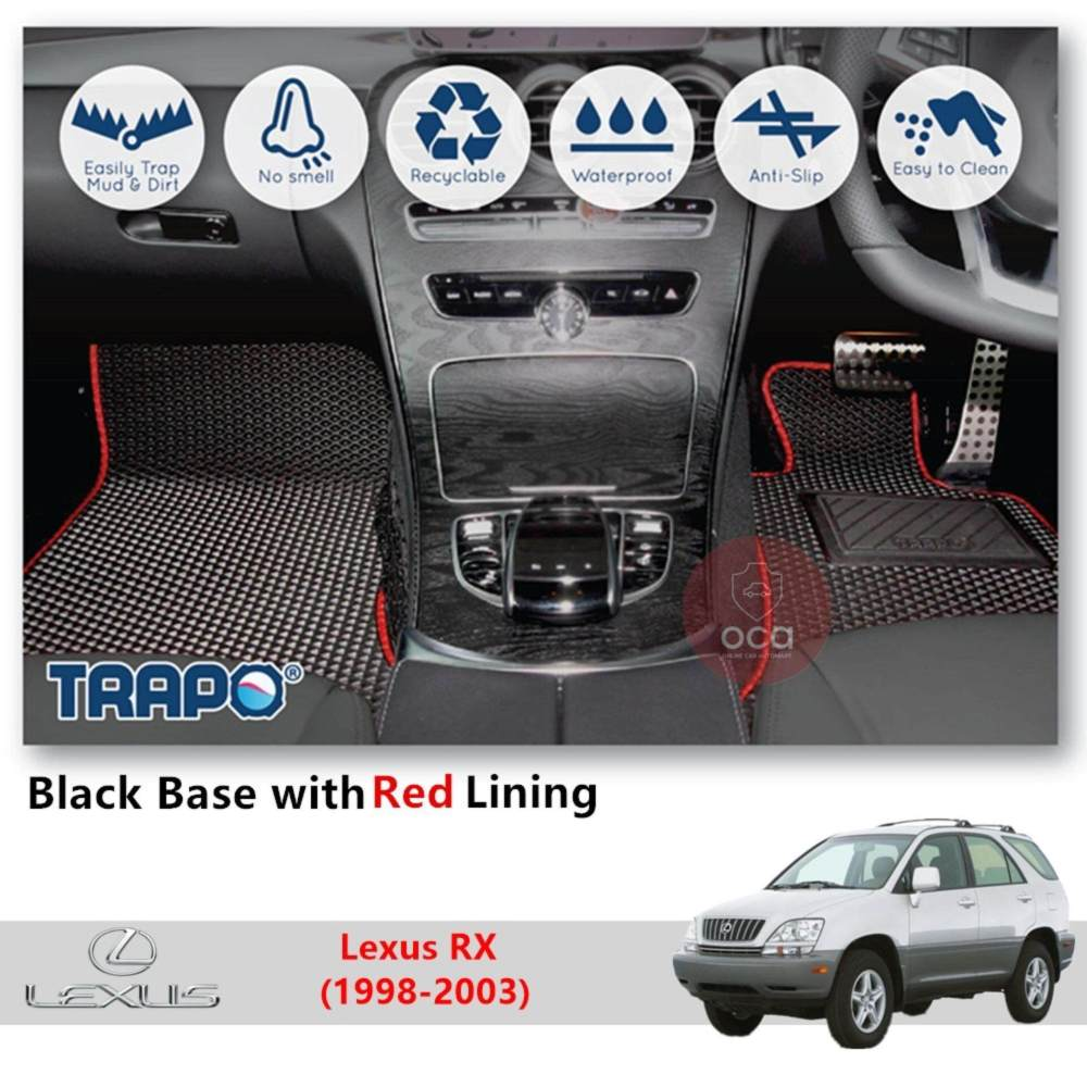 medium resolution of trapo customize car floor mat for lexus rx 1998 2003 black base with red lining grey lining blue lining black lining choose the colour in colour family