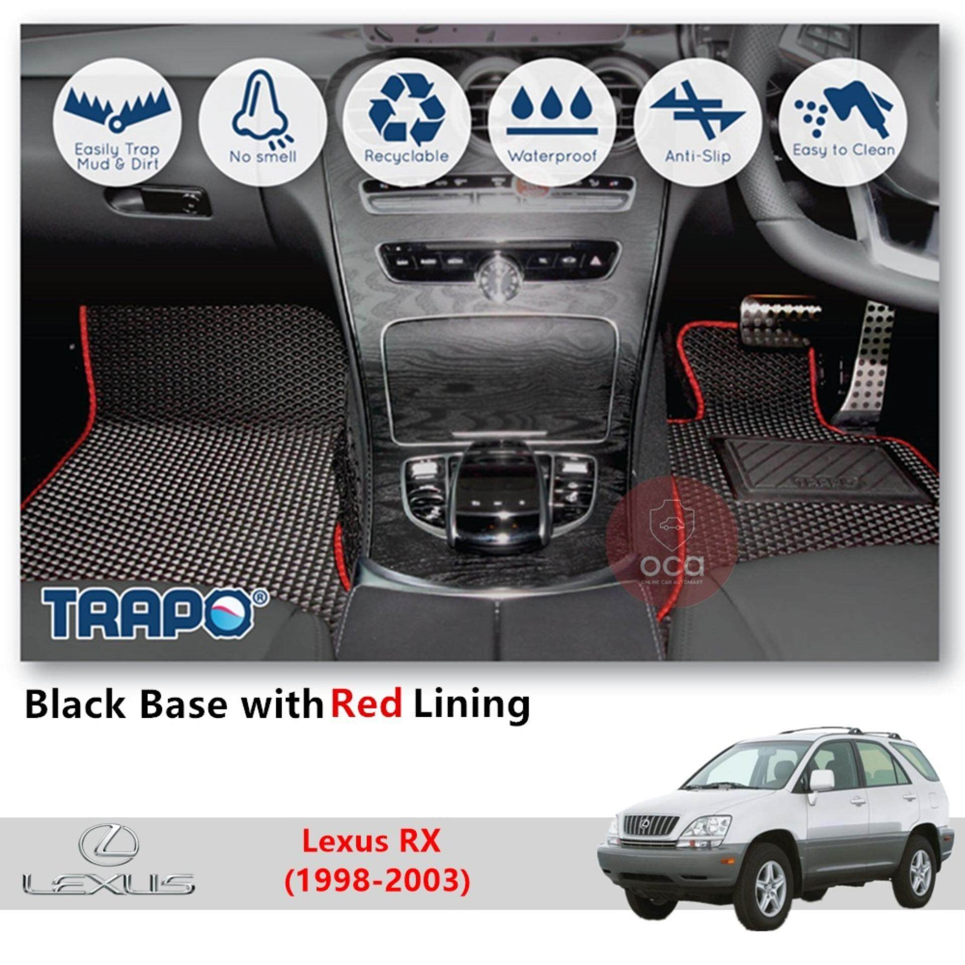 hight resolution of trapo customize car floor mat for lexus rx 1998 2003 black base with red lining grey lining blue lining black lining choose the colour in colour family