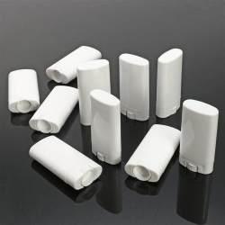 15 Buah 10 Ml Penjualan Terlaris Tabung Pelembab Bibir Kosong Wadah Penampung Putih Deodoran Plastik Pelembap Bibir Botol Kecil Lipstik Rias