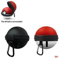 Kotak Penyimpanan Kantong Pelindung Bulat Portabel Tas Pengatur EVA Keras untuk Switch Pokemon Pokeball