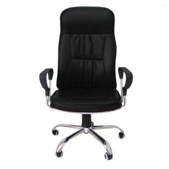 desk chair jysk wedding covers hire oxford fitur office pokororo 54x60x116cm black dan harga terbaru pu leather luxury director