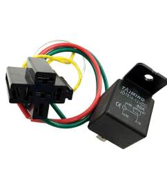 miracle shining 40a dc12v spdt 5 pin 5 wire automotive car relay wires harness [ 1024 x 1024 Pixel ]