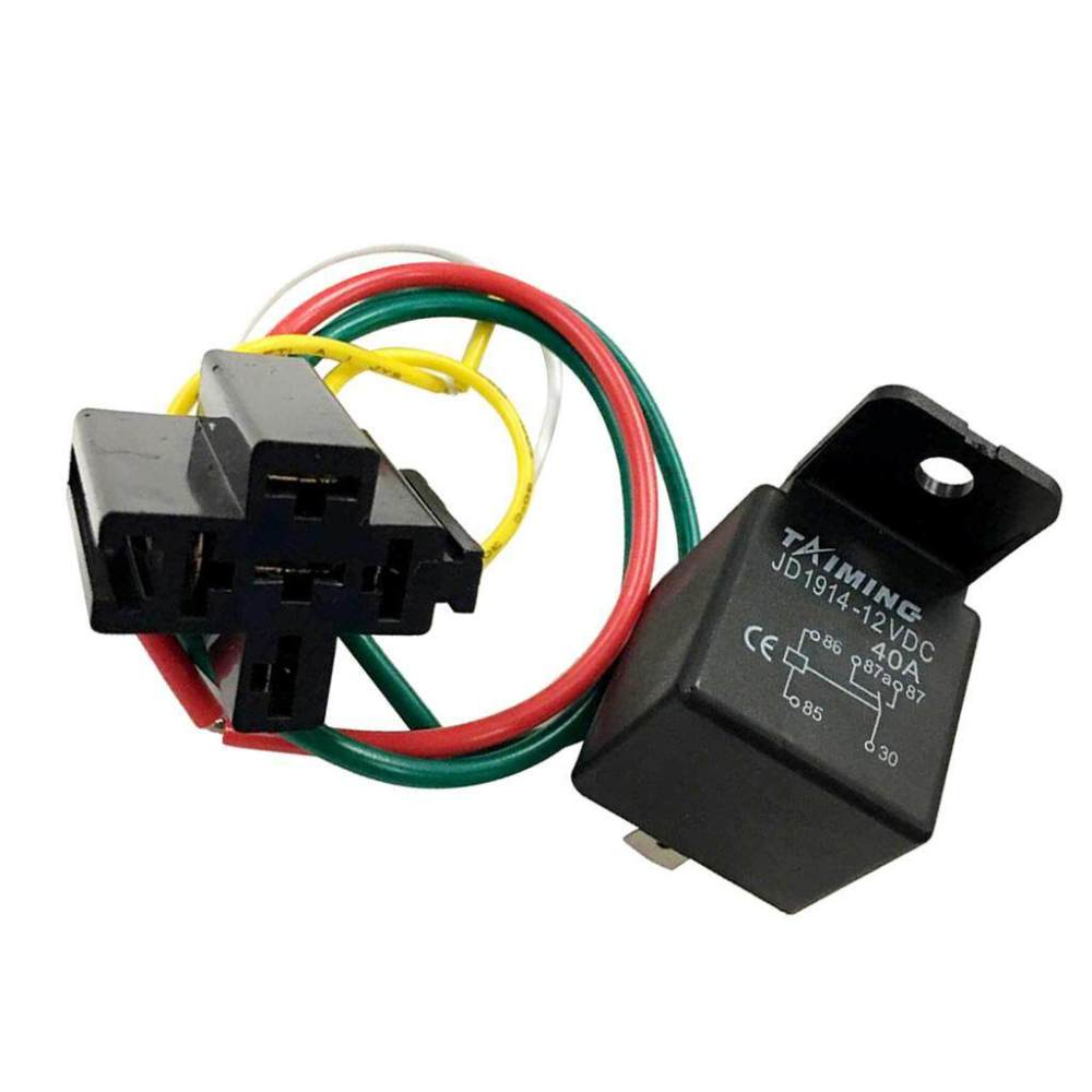 medium resolution of miracle shining 40a dc12v spdt 5 pin 5 wire automotive car relay wires harness