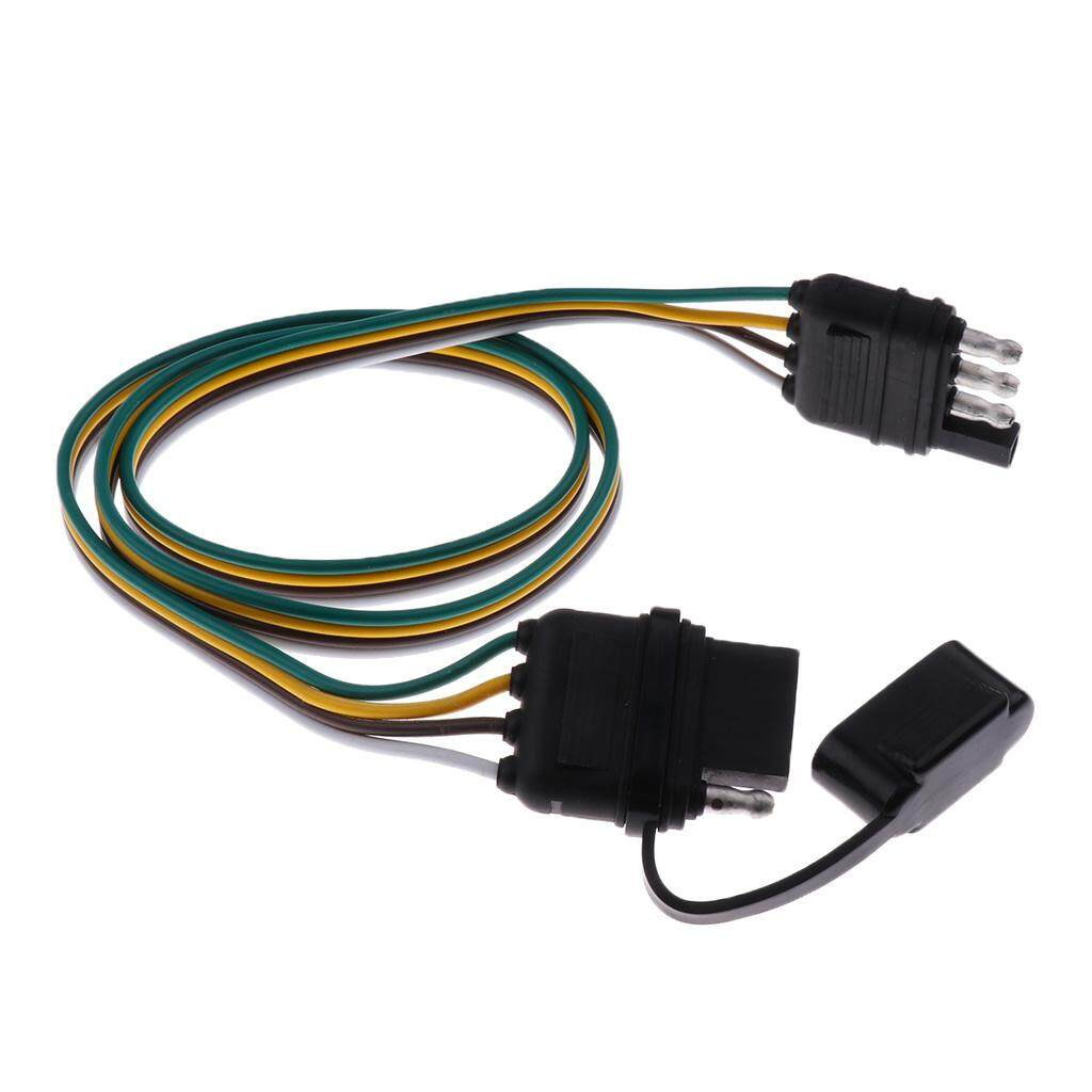 hight resolution of miracle shining brand new durale 80mm trailer light wiring harness 4 pin plug 18 awg