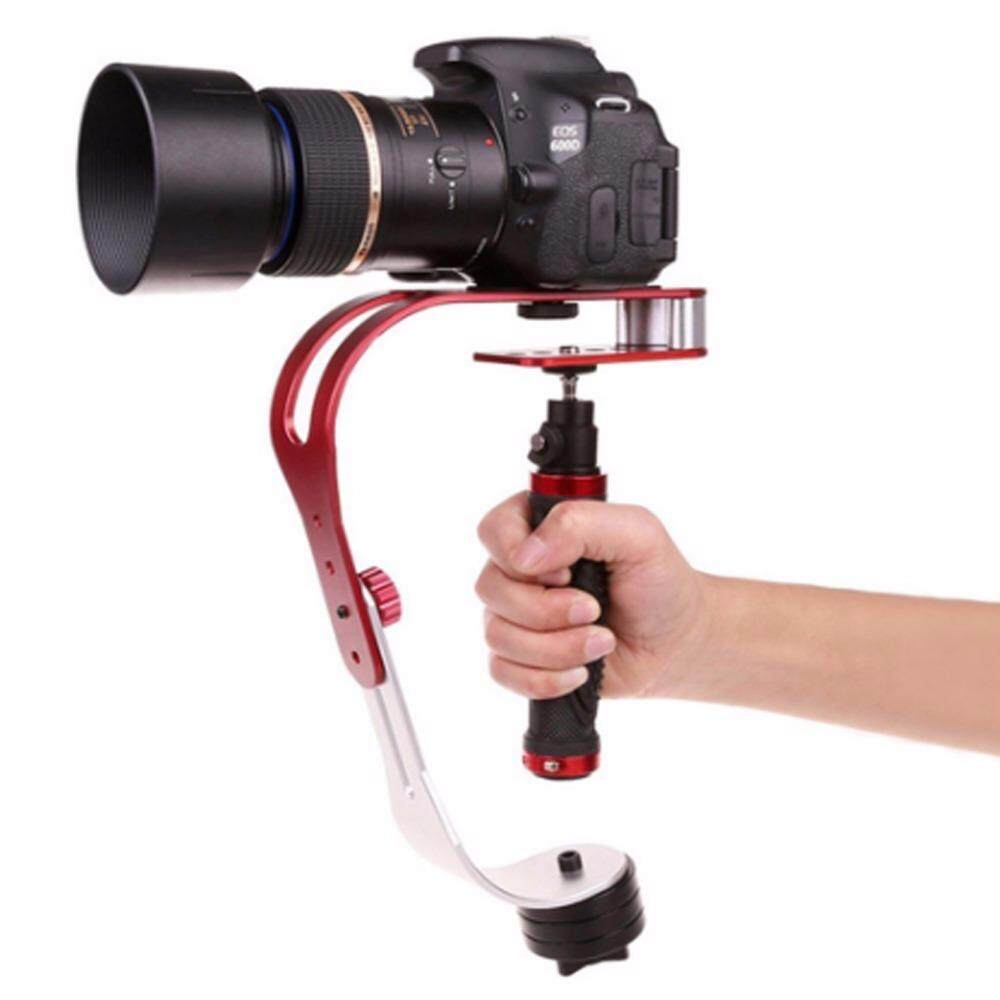Pro Handheld video Camera Stabilizer Steady, Perfect for GoPro, Cannon, Nikon or any DSLR camera up to 2.1 lbs With Smooth Pro Steady Glide Cam - Red + Silver + Black - intl