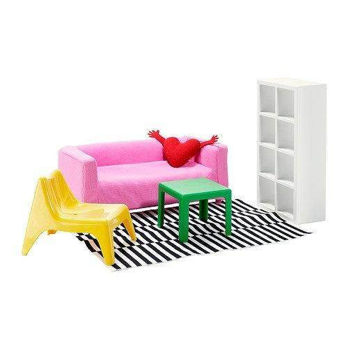(1, CLASSIC) - 1 X Ikea's HUSET Doll furniture, living room - intl