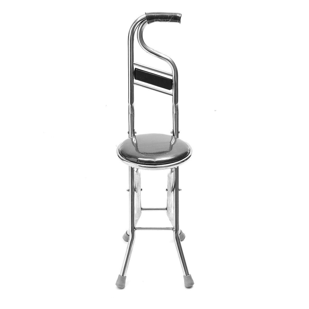 walking cane seat chairs chair with umbrella attached walmart stainless steel portable folding stick
