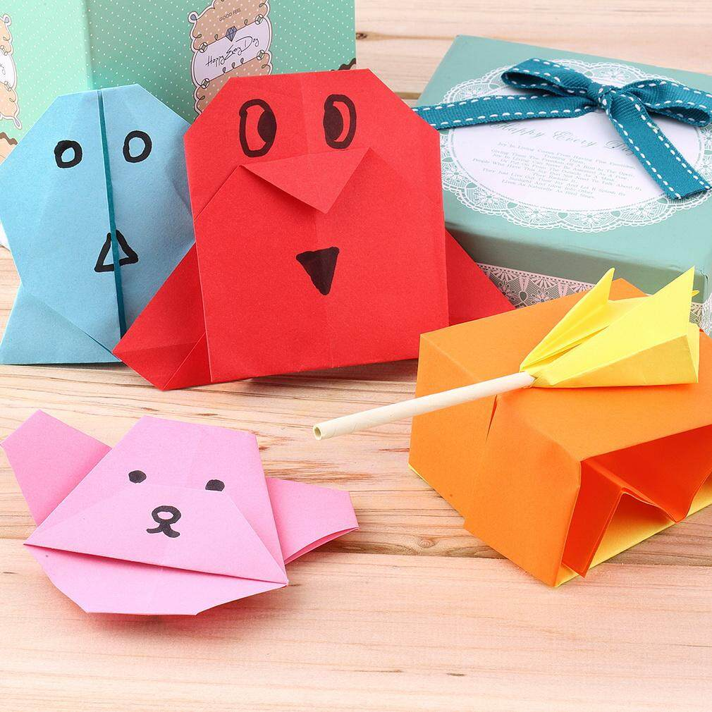 GOOD 100 pieces/set Colorful Beautiful Papers for Writing and Making Paper Animals - intl