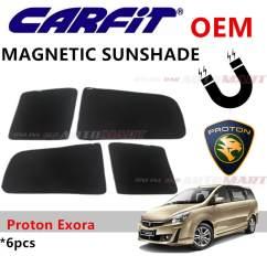 Fitur All New Alphard Lampu Yaris Trd Carfit Oem Magnetic Custom Fit Sunshade For Toyota Proton Exora 6pcs Sets