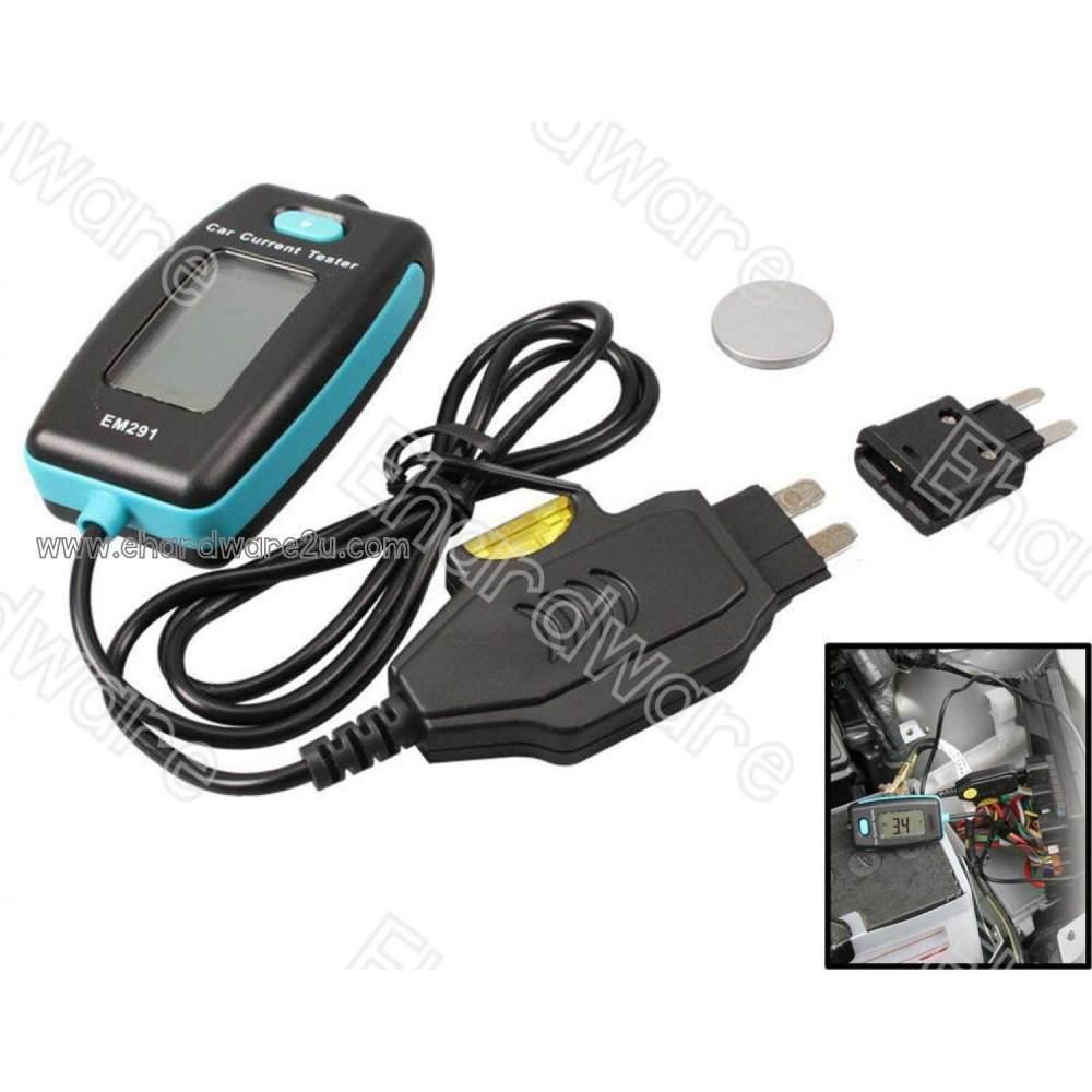medium resolution of car fuse current measure tester fuse box faulty diagnostics 20a em291