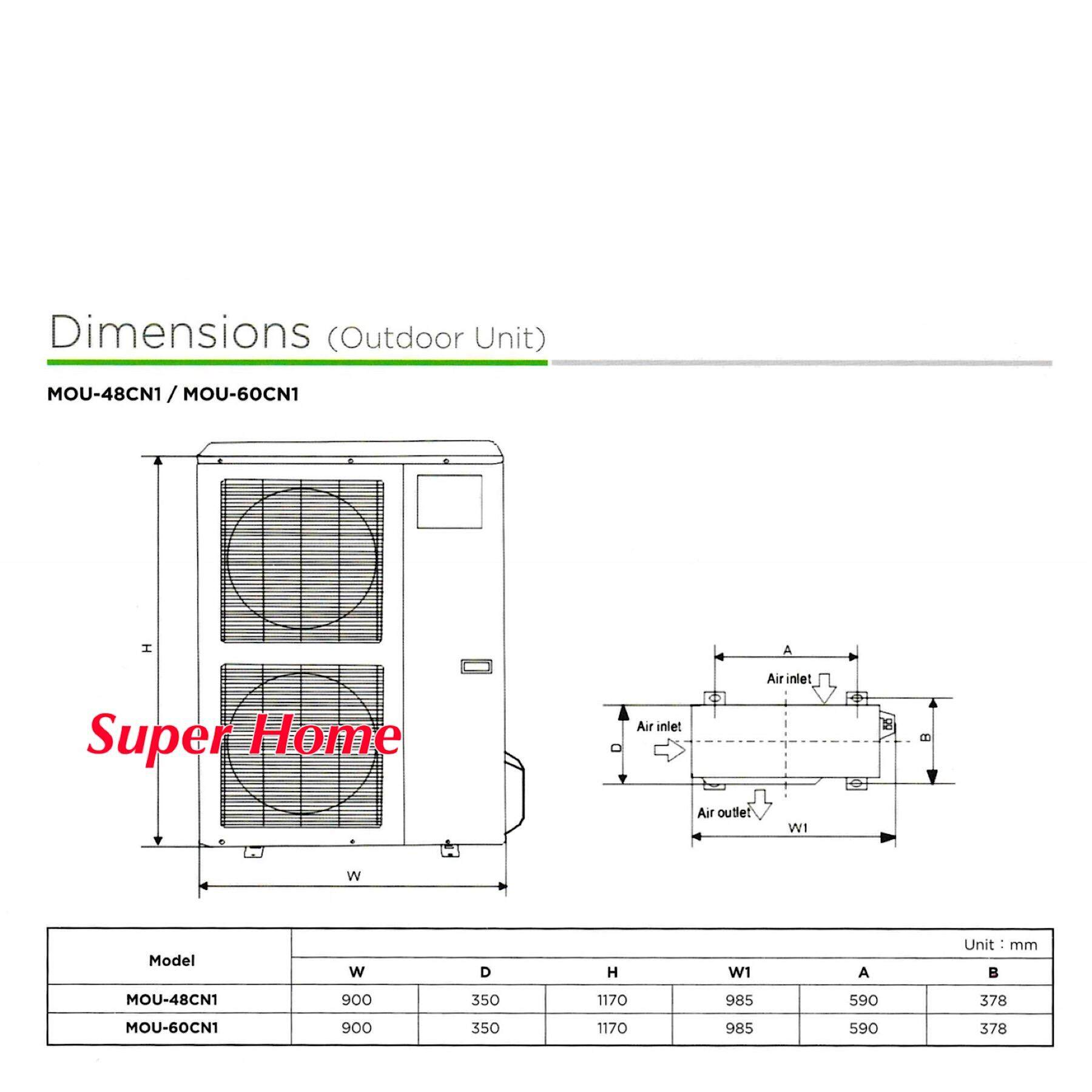 hight resolution of indoor dimension w x d x h 840 x 840 x 245 mm 27kg