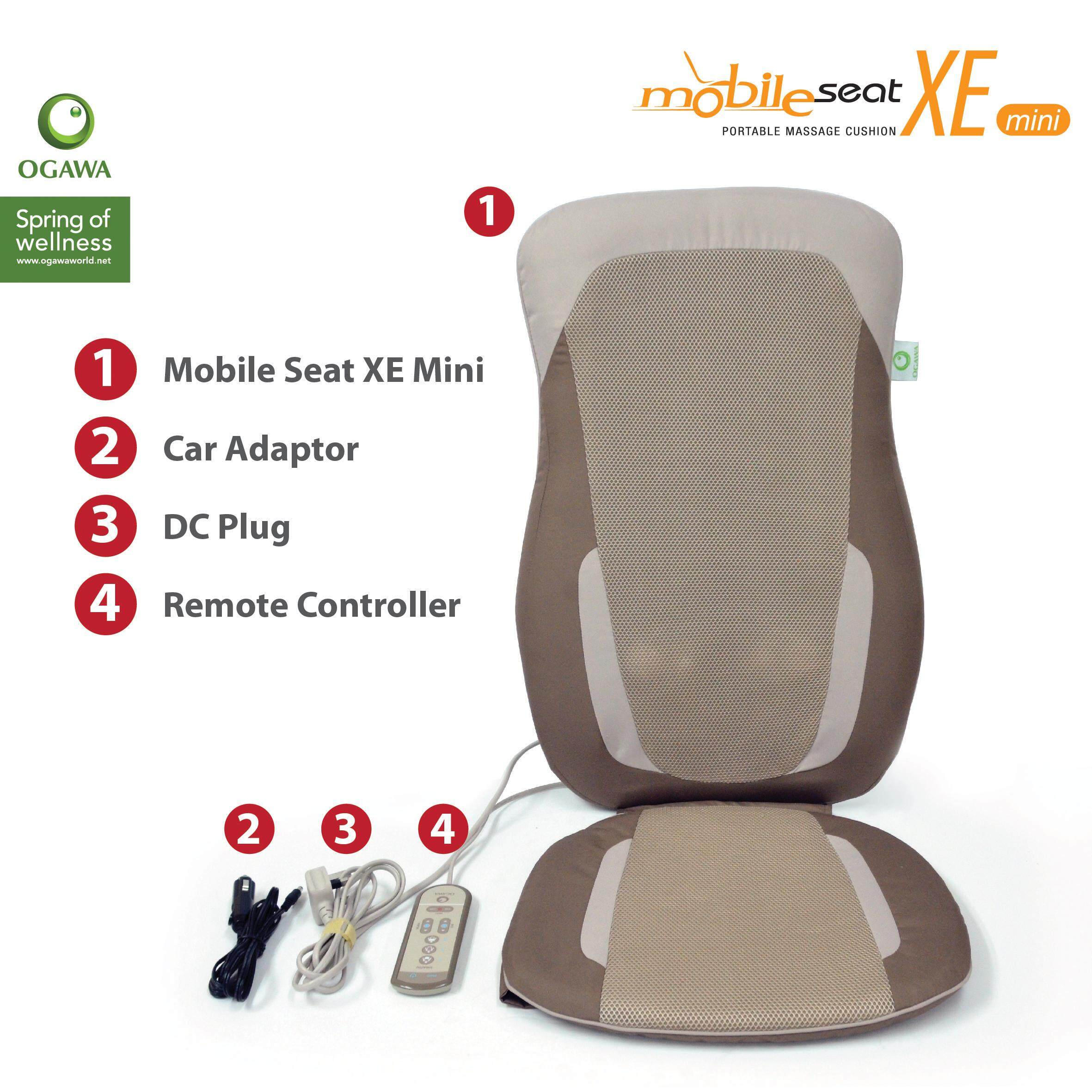 ogawa massage chair outdoor hanging swing with stand mobile seat xe mini portable cushion