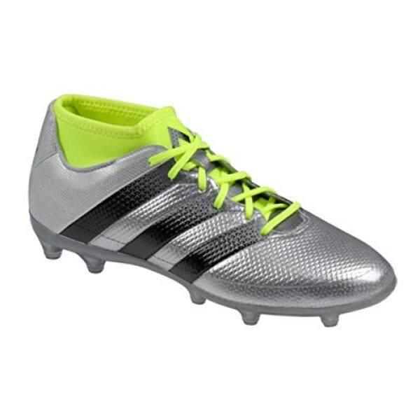 Adidas Performa Pria ACE 16.2 Primemesh FG/AG Sepak Bola Shoe, Perak Metalik/Hitam/Listrik, kami-Internasional
