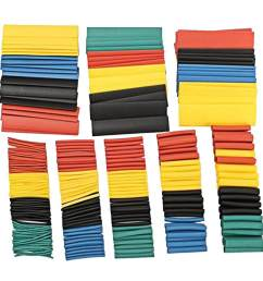 328pcs 2 1 polyolefin shrinking assorted heat shrink tube wrap wire cable insulated sleeving tubing [ 1001 x 1001 Pixel ]