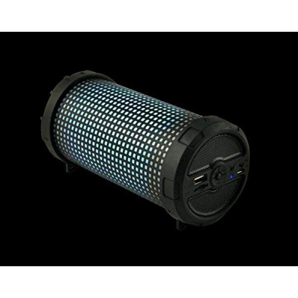 Wireless Bluetooth Speaker MHS002 Special LED Light Outdoor Bazooka Style Fashion Design Compact Portable FM Radio Stereo Audio for iPhone iPad Tablet Smartphone Desktop Laptop Computer (Black) - intl