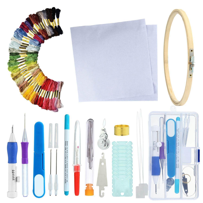 Magic Pena Bordir, Bordir Bantalan Jarum Jahit Pena Jarum Set Alat Kerajinan Jahit Knitting Kit
