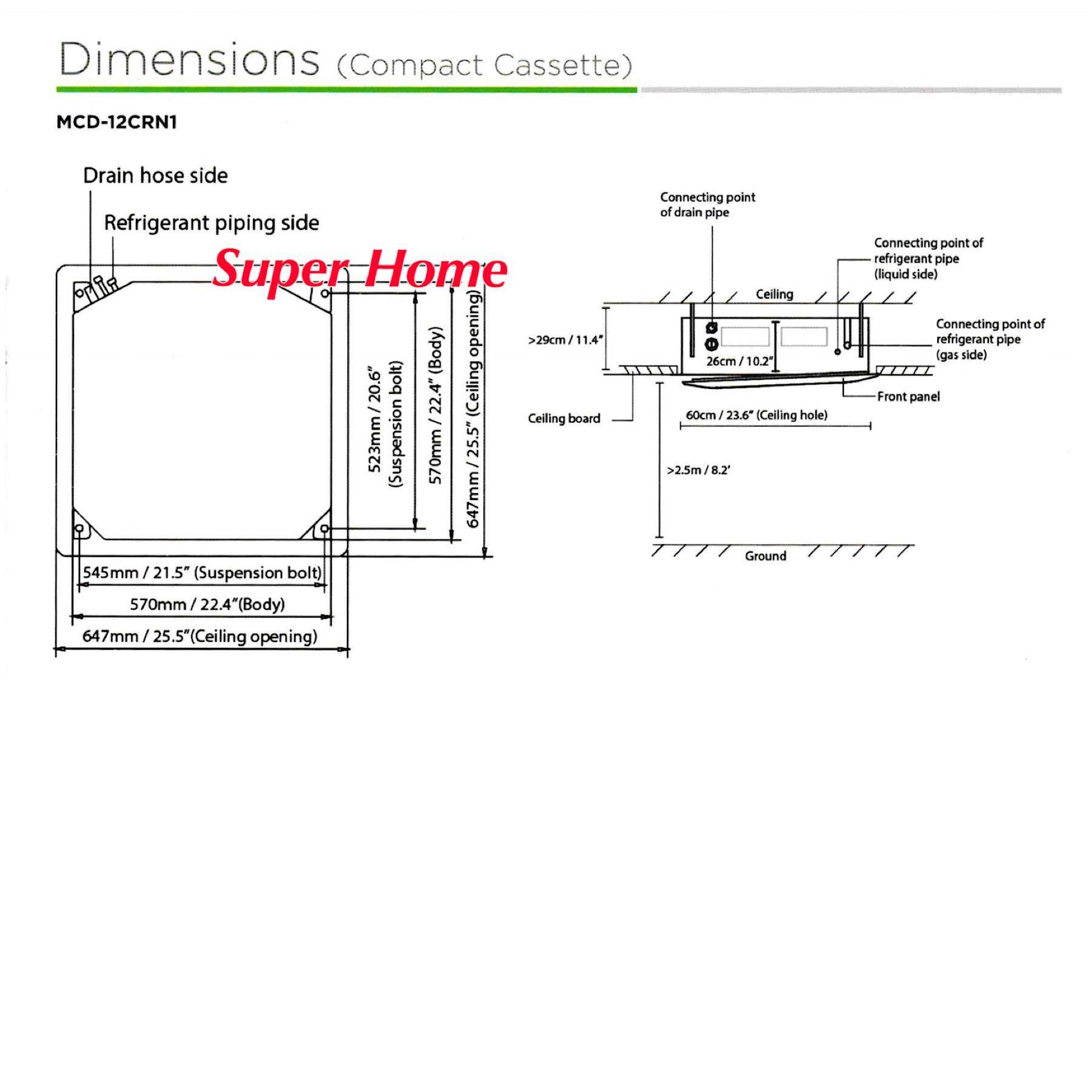 hight resolution of indoor dimension w x d x h 570 x 570 x 260 mm 15kg