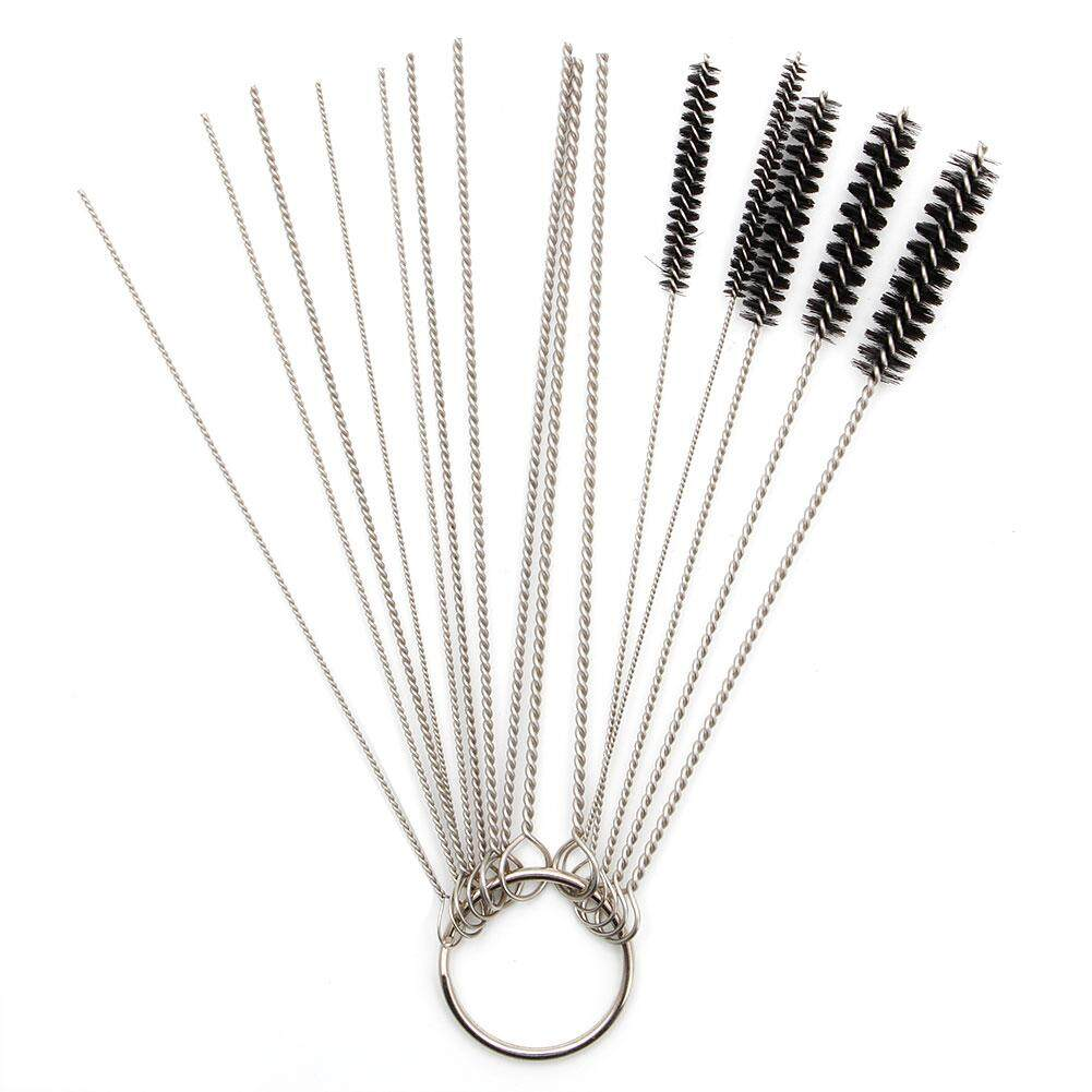 hight resolution of 10 cleaning needles 5 brushes tool for carburetor carbon dirt jet dry intl