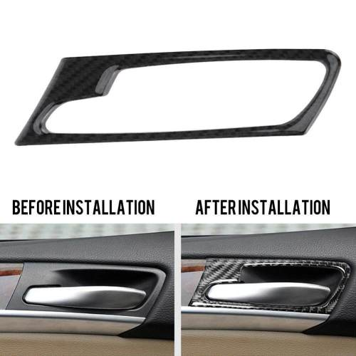 small resolution of carbon fiber interior door handle cover trim bowl sticker decoration for bmw x5 x6 e70 e7