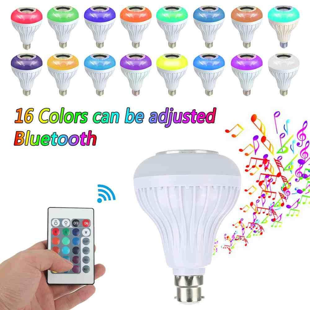 Deyln The New Excellent Quality Intelligent B22 Light Bulb Colorful LED Lamp Bluetooth 3.0 Speaker for Home - intl