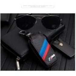 1PC Carbon Fiber Timbul Kulit Kunci Mobil Case Pemegang untuk E46 E39 E90 E60 E36 F30 F10 F20 E38 E91 E53 E70 X5 X3 X6 M M3 M5 3 Series