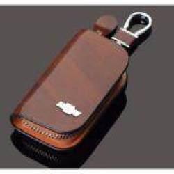 1 Buah Sarung Kunci Mobil Kulit Pria & Wanita Penutup Pegangan Dompet Gantungan Kunci Mobil untuk Chevrolet