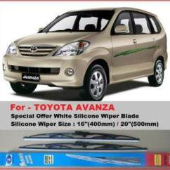 Wiper Grand New Avanza Ukuran Veloz Fitur Mobil Frameless 1 Set Toyota 2016 Free Special Offer Wsw16 20 White Silicone Blade