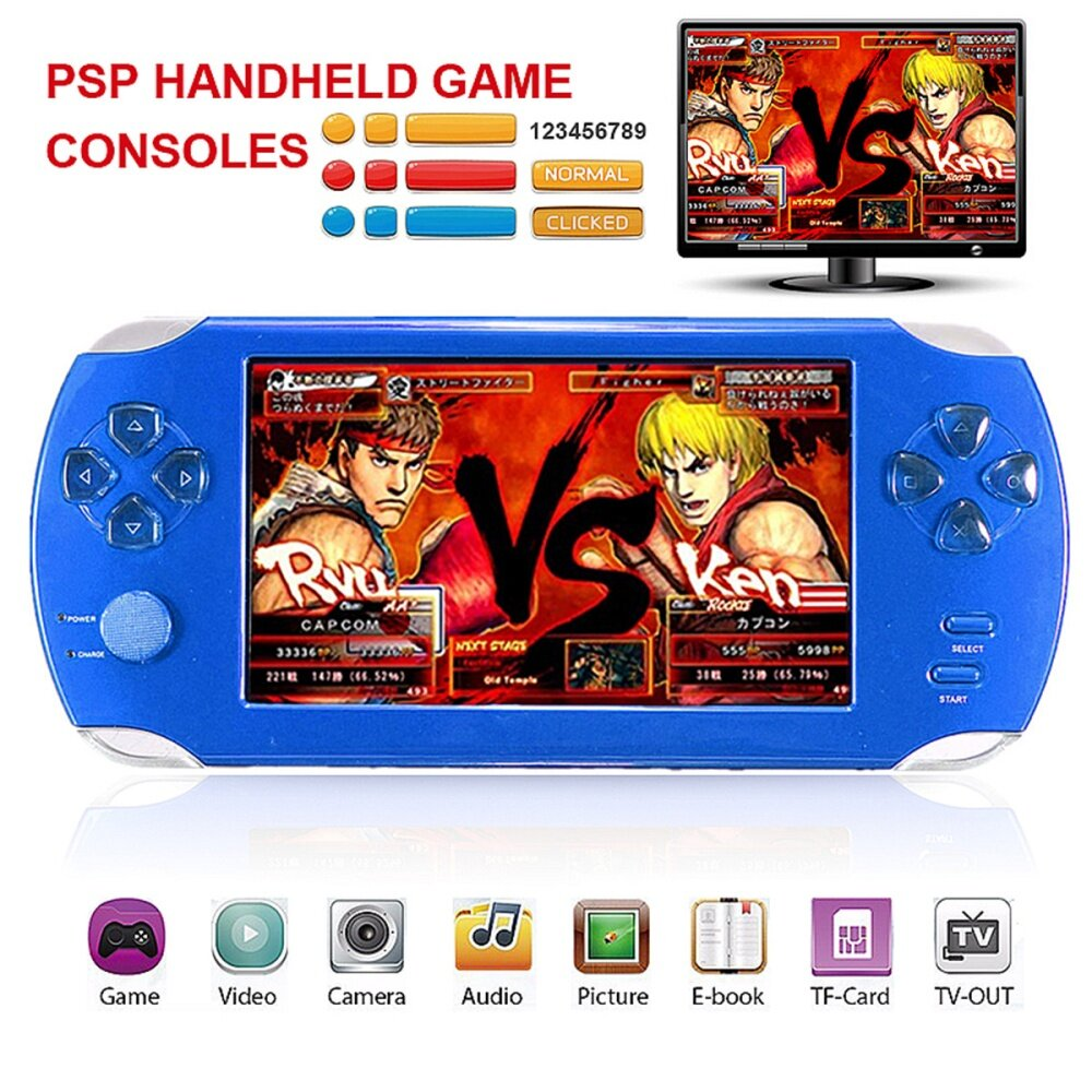 S 8367 11607955500b3fade257575f721bcb42 Universal A15 Rechargeable 5.0 8G Handheld Video Game Console MP4/MP5 Player With Camera Red