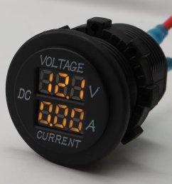 product name digital voltmeter ammeter operating voltage 12 24v measure voltage 6 30v measure current 0 15a shell color black [ 1000 x 1000 Pixel ]