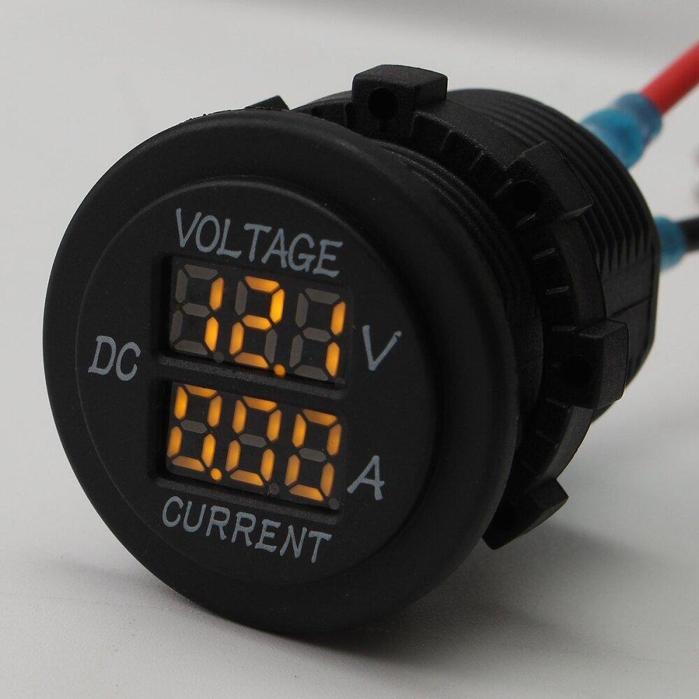 hight resolution of product name digital voltmeter ammeter operating voltage 12 24v measure voltage 6 30v measure current 0 15a shell color black