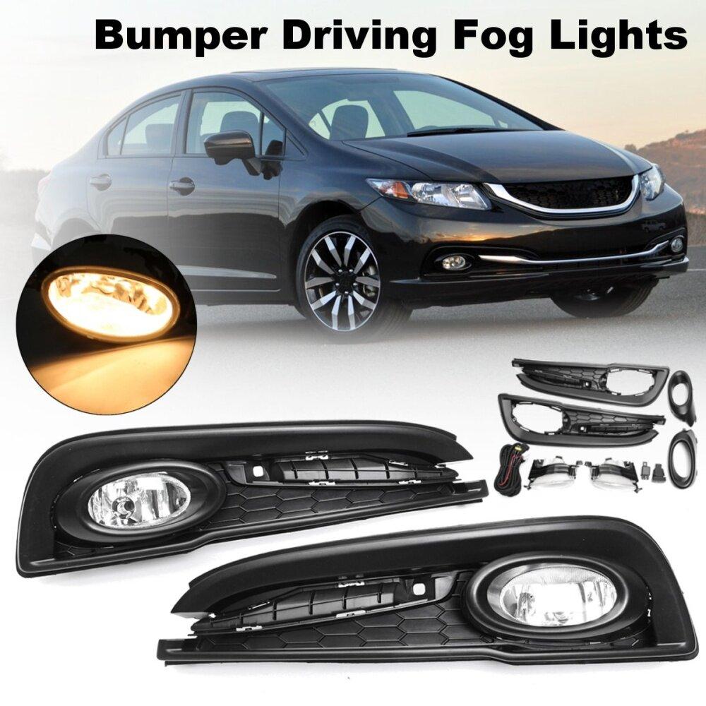 hight resolution of generic for honda civic 4dr sedan 13 15 bumper driving fog light w switch bulb wirings