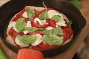 Fresh basil! Fresh Mozzarella!
