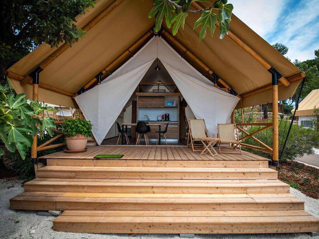 Premium three bedroom safari tent 42  Campsite Arena